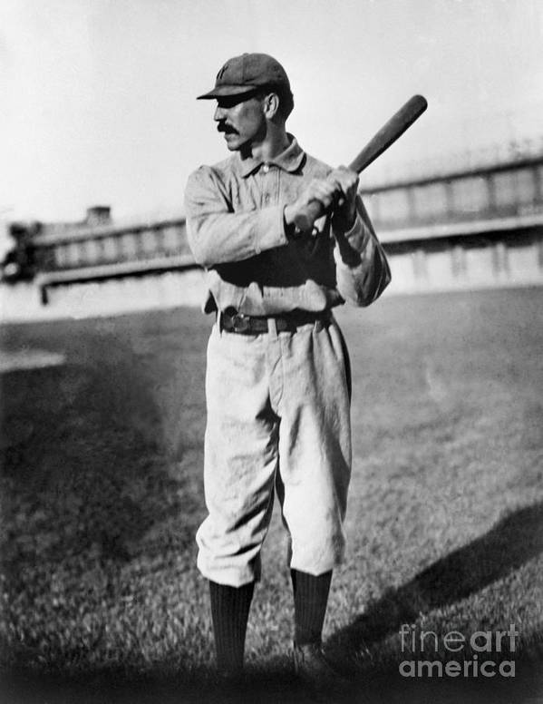 Sports Bat Poster featuring the photograph National Baseball Hall Of Fame Library by National Baseball Hall Of Fame Library