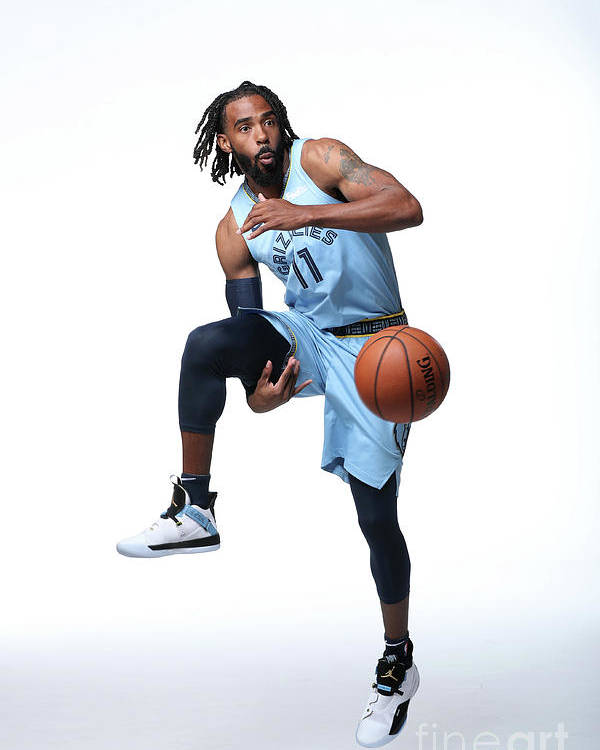 Media Day Poster featuring the photograph 2018-19 Memphis Grizzlies Media Day by Joe Murphy