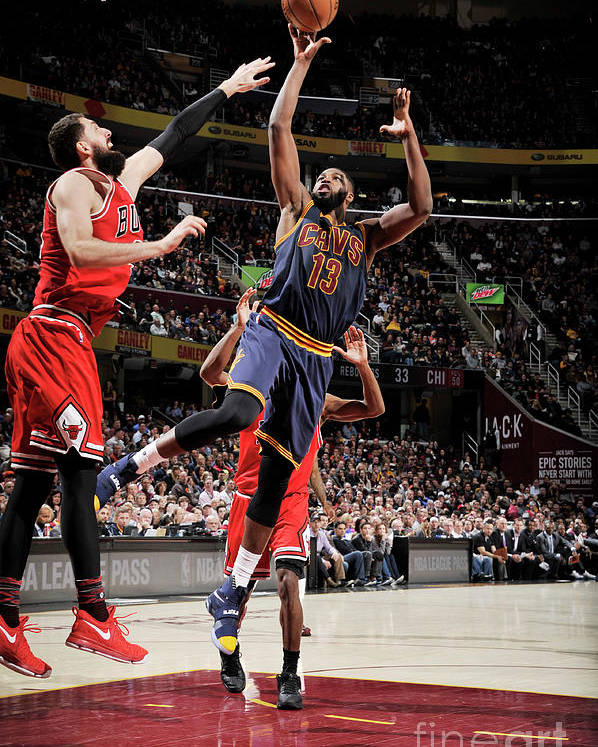 Nba Pro Basketball Poster featuring the photograph Chicago Bulls V Cleveland Cavaliers 8 by David Liam Kyle
