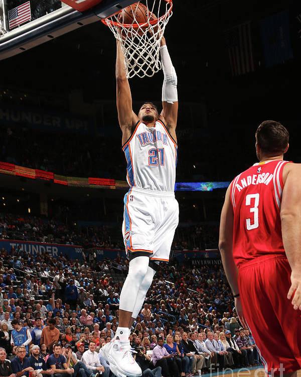Nba Pro Basketball Poster featuring the photograph Houston Rockets V Oklahoma City Thunder by Layne Murdoch