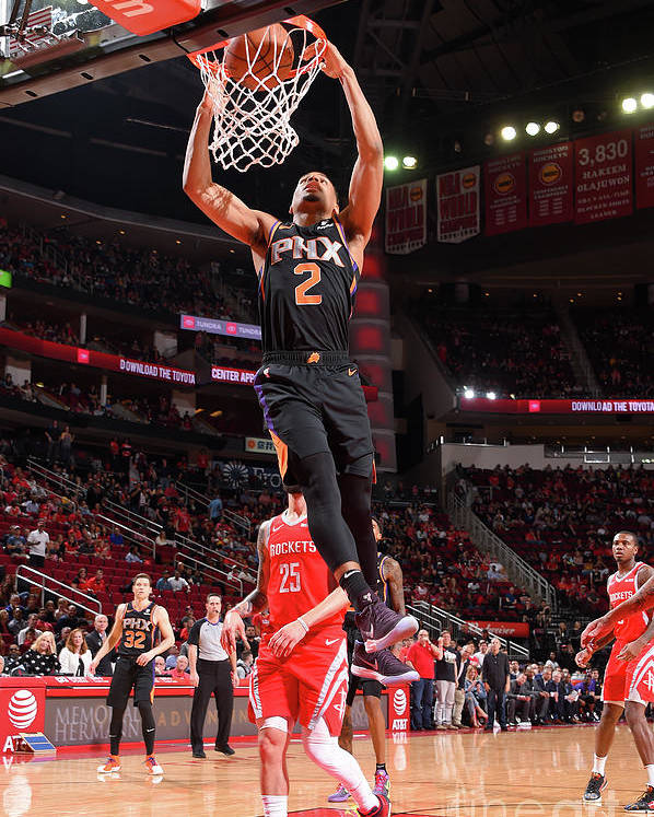 Nba Pro Basketball Poster featuring the photograph Phoenix Suns V Houston Rockets by Bill Baptist