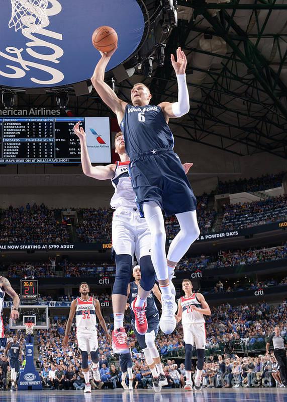 Nba Pro Basketball Poster featuring the photograph Washington Wizards V Dallas Mavericks by Glenn James