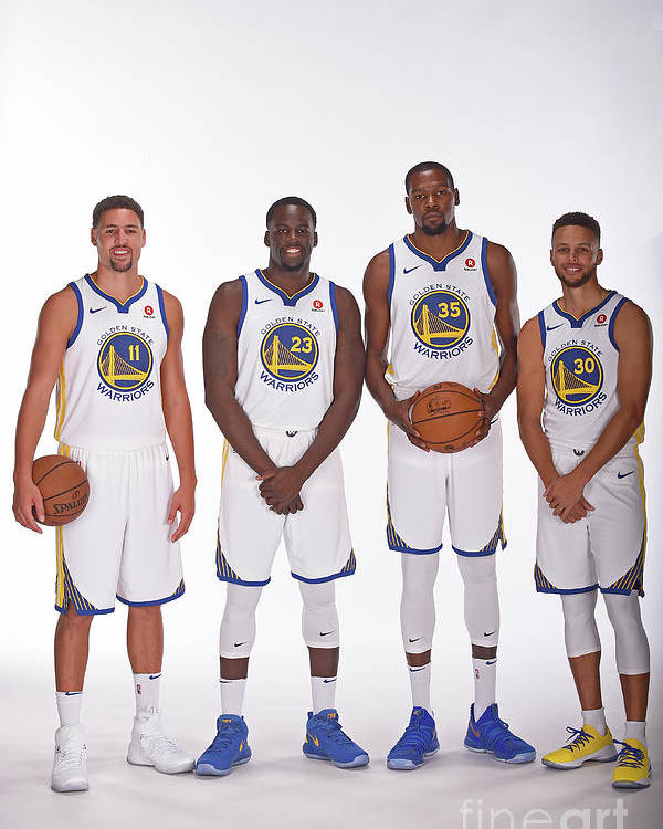 Media Day Poster featuring the photograph 2017-18 Golden State Warriors Media Day by Noah Graham