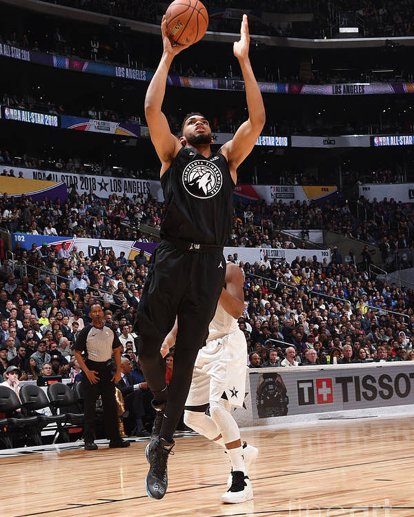 Nba Pro Basketball Poster featuring the photograph 2018 Nba All-star Game by Andrew D. Bernstein