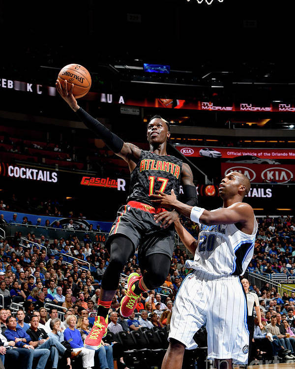Nba Pro Basketball Poster featuring the photograph Atlanta Hawks V Orlando Magic by Fernando Medina