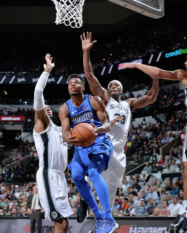 Nba Pro Basketball Poster featuring the photograph Dallas Mavericks V San Antonio Spurs by Mark Sobhani