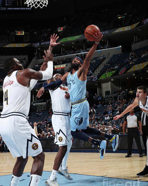 Nba Pro Basketball Poster featuring the photograph Denver Nuggets V Memphis Grizzlies by Joe Murphy