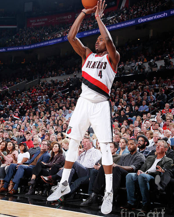 Moe Harkless Poster featuring the photograph La Clippers V Portland Trail Blazers by Sam Forencich