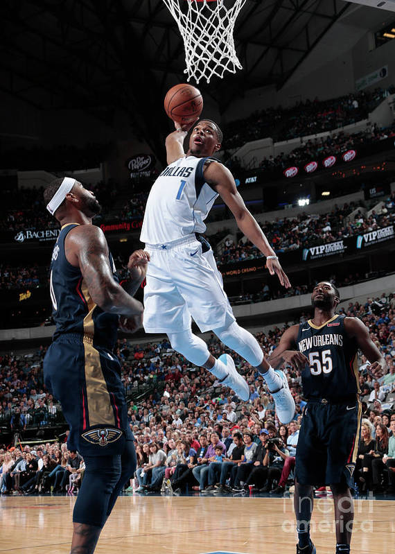 Nba Pro Basketball Poster featuring the photograph New Orleans Pelicans V Dallas Mavericks by Glenn James