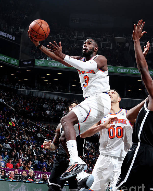 Tim Hardaway Jr. Poster featuring the photograph New York Knicks V Brooklyn Nets by Nathaniel S. Butler