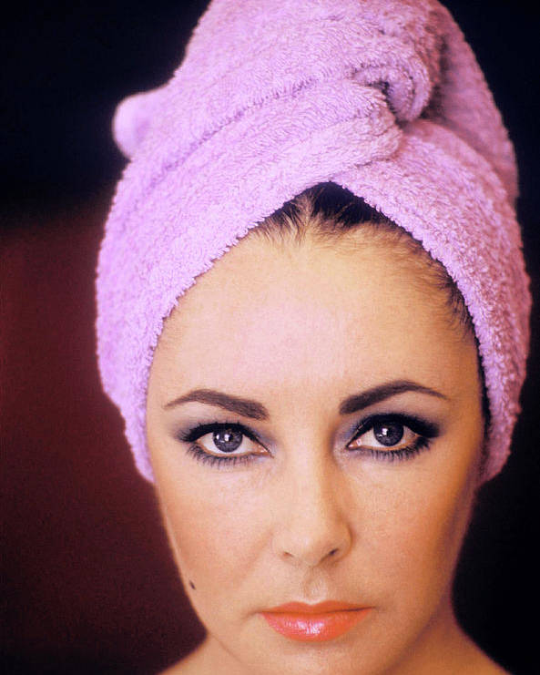 People Poster featuring the photograph Actress Elizabeth Taylor Poses by Getty Images