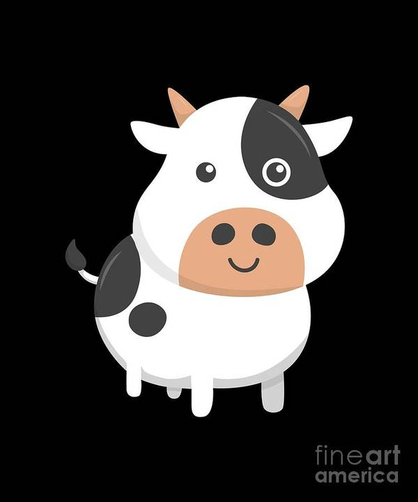 Adorable-cow Poster featuring the digital art Adorable Cow Cute Baby Calf by The Perfect Presents