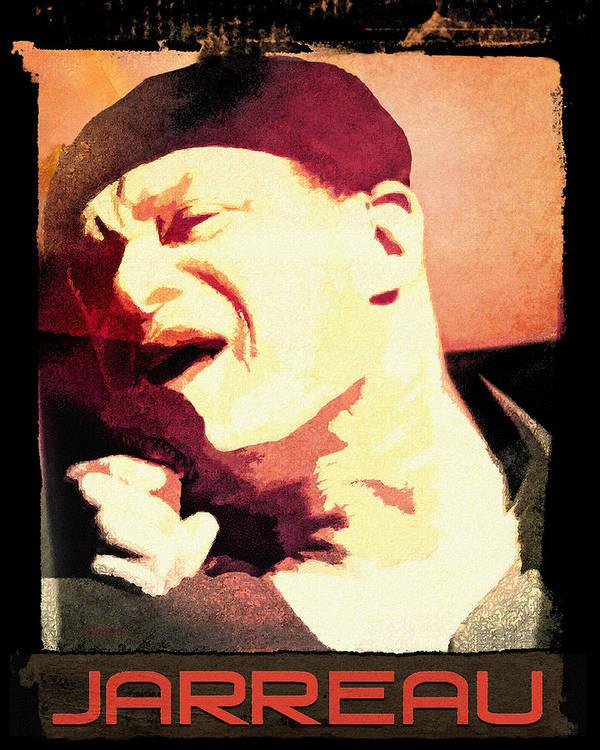 Poster featuring the digital art Al Jarreau by Regina Wyatt