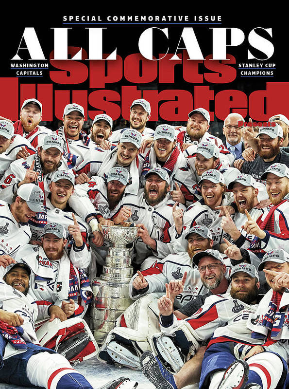 Playoffs Poster featuring the photograph All Caps Washington Capitals, 2018 Nhl Stanley Cup Champions Sports Illustrated Cover by Sports Illustrated