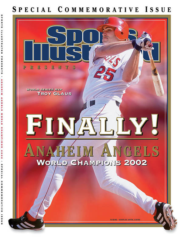 Playoffs Poster featuring the photograph Anaheim Angels Troy Glaus, 2002 World Series Champions Sports Illustrated Cover by Sports Illustrated