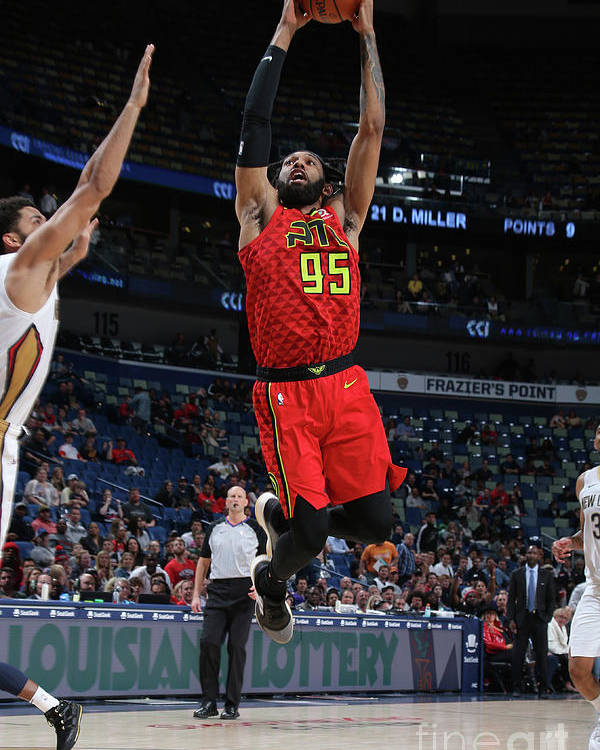 Smoothie King Center Poster featuring the photograph Atlanta Hawks V New Orleans Pelicans by Layne Murdoch Jr.
