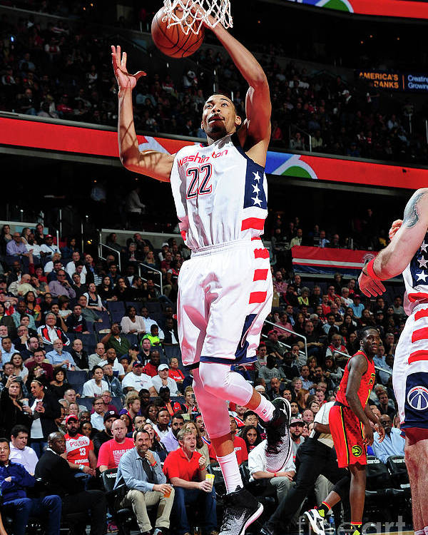 Playoffs Poster featuring the photograph Atlanta Hawks V Washington Wizards - by Scott Cunningham