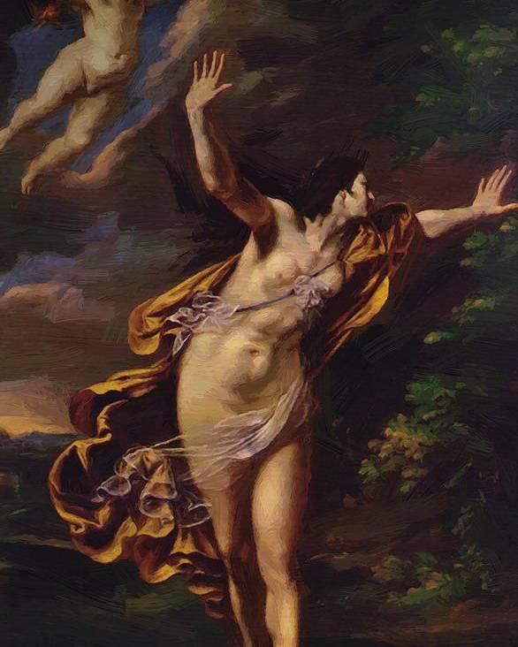 Aurora Poster featuring the painting Aurora 1627 by Gentileschi Artemisia
