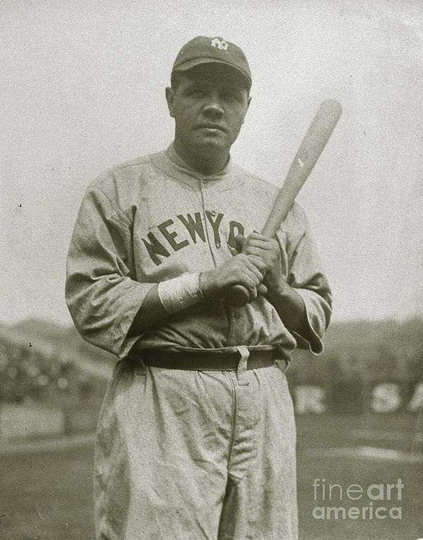 People Poster featuring the photograph Babe Ruth Aetherial by Transcendental Graphics