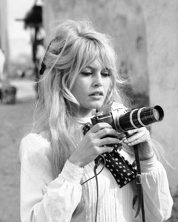 Timeincown Poster featuring the photograph Bardot During Viva Maria Shoot by Ralph Crane