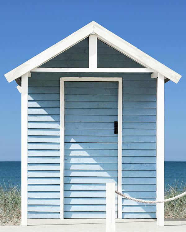 Beach Hut Poster featuring the photograph Beach Hut by Andrew Dernie