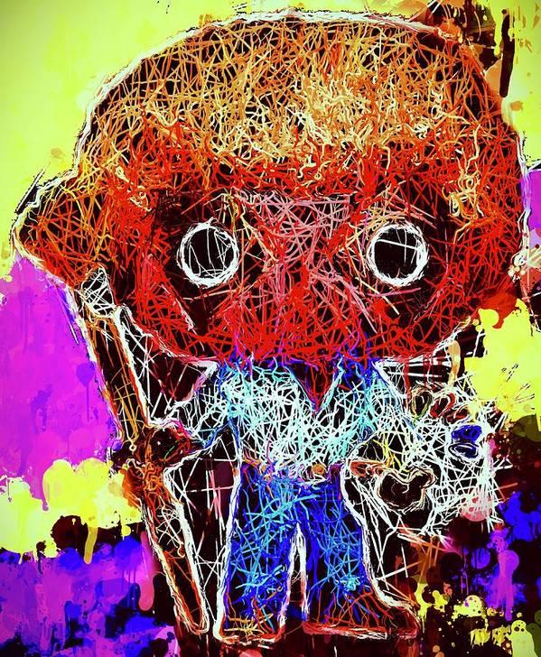 Funko Pop Poster featuring the mixed media Deadpool Bob Ross Pop by Al Matra