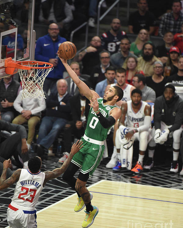 Nba Pro Basketball Poster featuring the photograph Boston Celtics V La Clippers by Adam Pantozzi