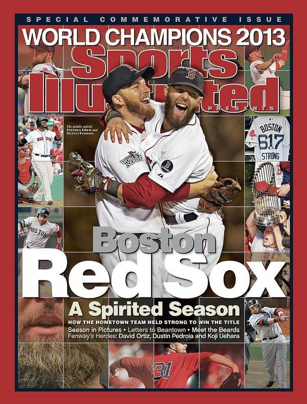 St. Louis Cardinals Poster featuring the photograph Boston Red Sox, World Champions 2013 A Spirited Season Sports Illustrated Cover by Sports Illustrated