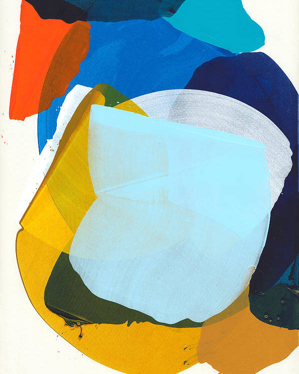 Abstract Poster featuring the painting California 05 by Claire Desjardins