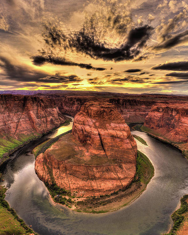 Canyons Bend Poster featuring the photograph Canyons Bend Vertical by Tayne Hunsaker