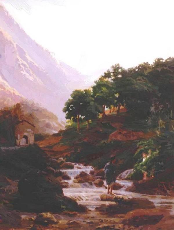 Carrara Poster featuring the painting Carrara by Ge Nikolai