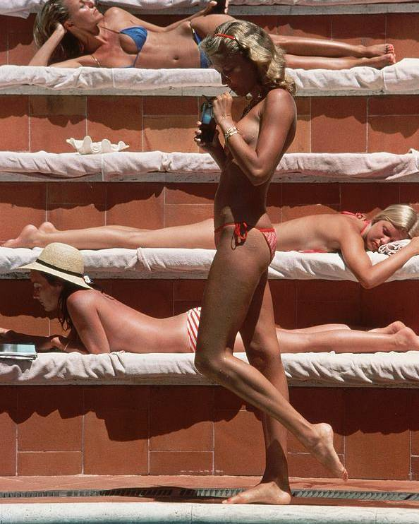 1980-1989 Poster featuring the photograph Catherine Wilke by Slim Aarons