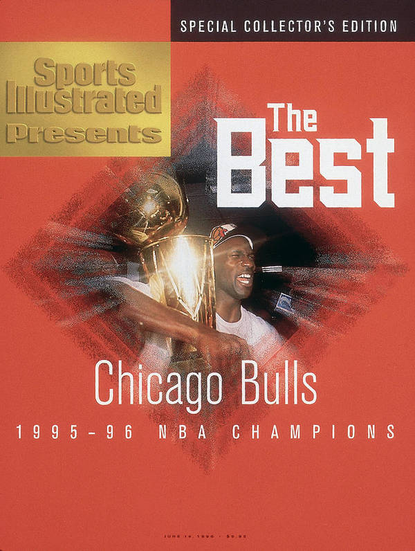 Playoffs Poster featuring the photograph Chicago Bulls Michael Jordan, 1996 Nba Finals Sports Illustrated Cover by Sports Illustrated