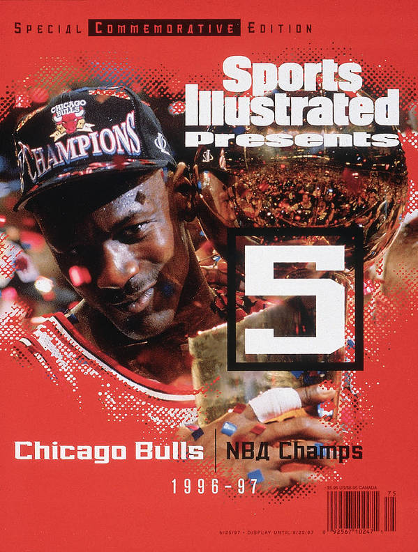Playoffs Poster featuring the photograph Chicago Bulls Michael Jordan, 1997 Nba Champions Sports Illustrated Cover by Sports Illustrated