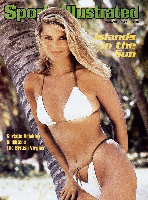 Three Quarter Length Poster featuring the photograph Christie Brinkley Swimsuit 1980 Sports Illustrated Cover by Sports Illustrated