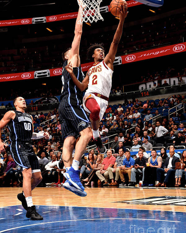 Nba Pro Basketball Poster featuring the photograph Cleveland Cavaliers V Orlando Magic by Gary Bassing