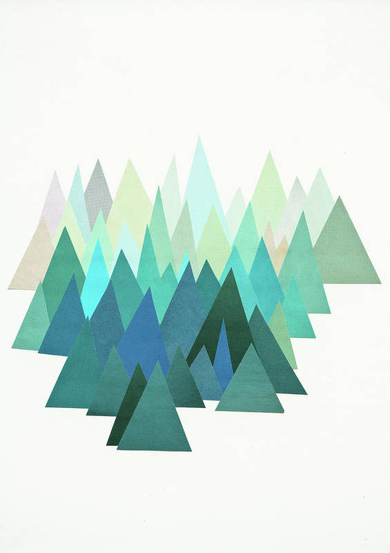 Mountains Poster featuring the mixed media Cold Mountain by Cassia Beck