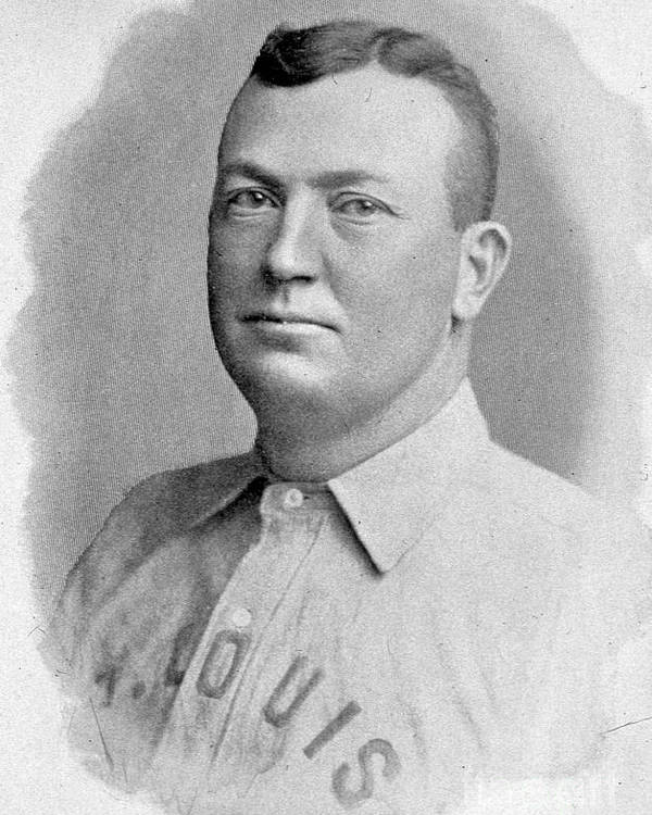 People Poster featuring the photograph Cy Young St. Louis 1899 by Transcendental Graphics