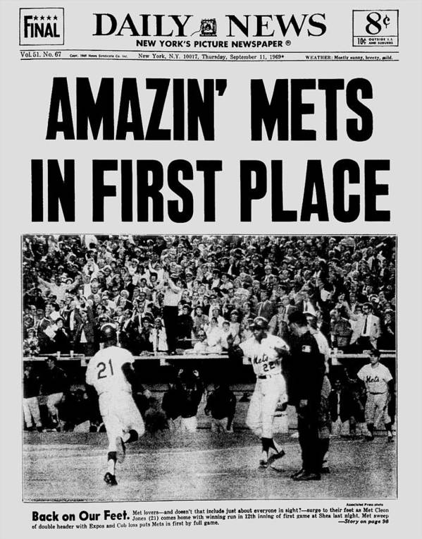 American League Baseball Poster featuring the photograph Daily News. Front Page. September, 11 by New York Daily News Archive
