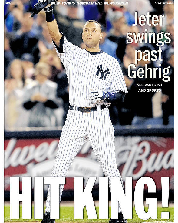 American League Baseball Poster featuring the photograph Daily News September 12, 2009, Hit by New York Daily News Archive