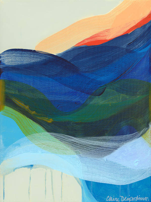 Abstract Poster featuring the painting Deep Sleep Undone by Claire Desjardins