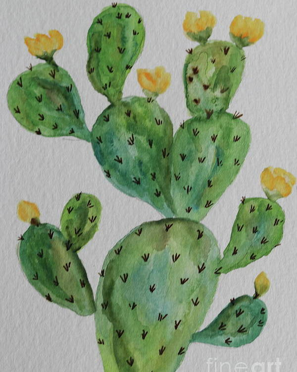 Cactus Poster featuring the painting Desert Garden Beauty by Christiane Schulze Art And Photography