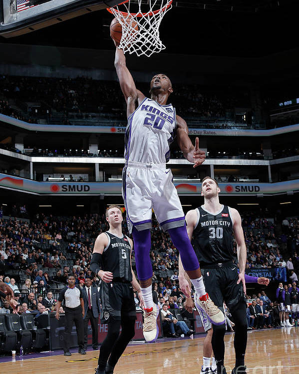 Nba Pro Basketball Poster featuring the photograph Detroit Pistons V Sacramento Kings by Rocky Widner