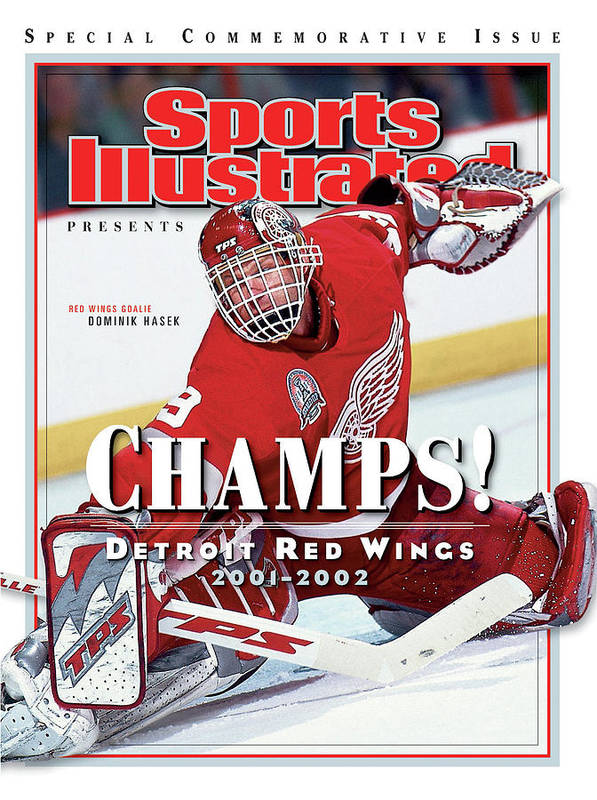 North Carolina Poster featuring the photograph Detroit Red Wings Goalie Dominik Hasek, 2002 Nhl Stanley Sports Illustrated Cover by Sports Illustrated