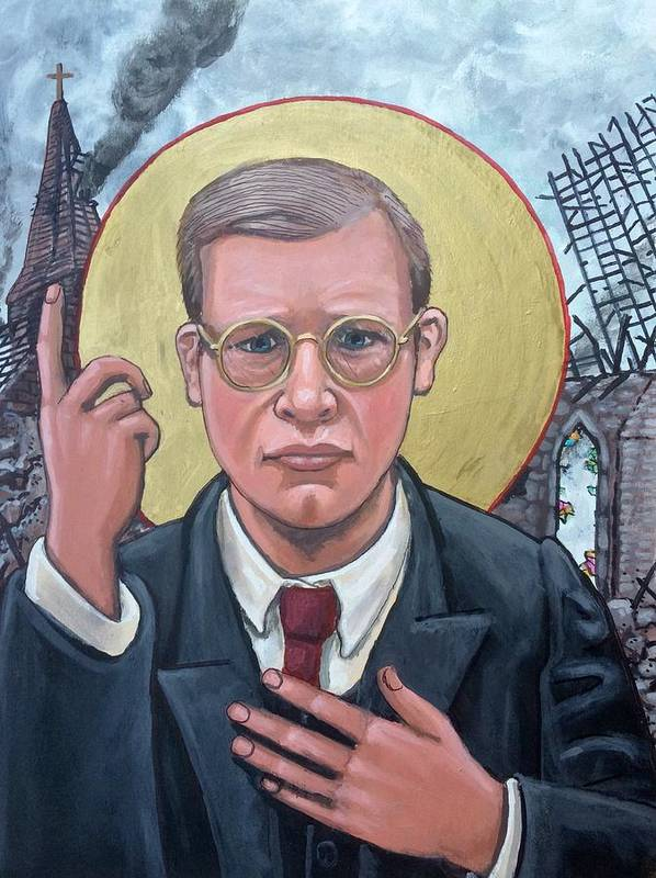 Iconography Dietrich Bonhoeffer Christian Theologian Poster featuring the painting Dietrich Bonhoeffer by Kelly Latimore