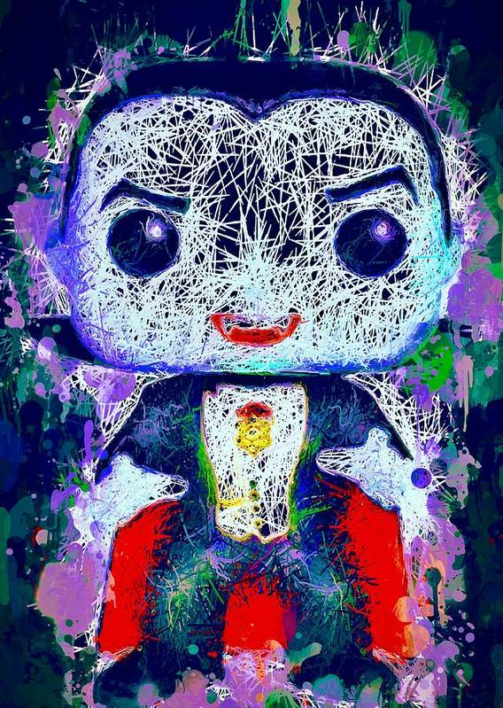 Funko Pop Poster featuring the mixed media Dracula Pop by Al Matra