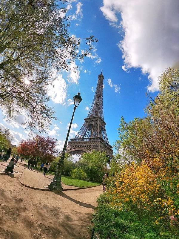 Europe Poster featuring the digital art Eiffel by Scott Waters