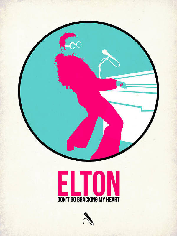 Elton John Poster featuring the digital art Elton Poster by Naxart Studio