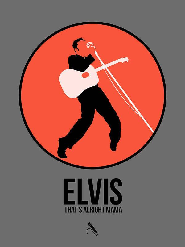 Elvis Presley Poster featuring the digital art Elvis Presley by Naxart Studio