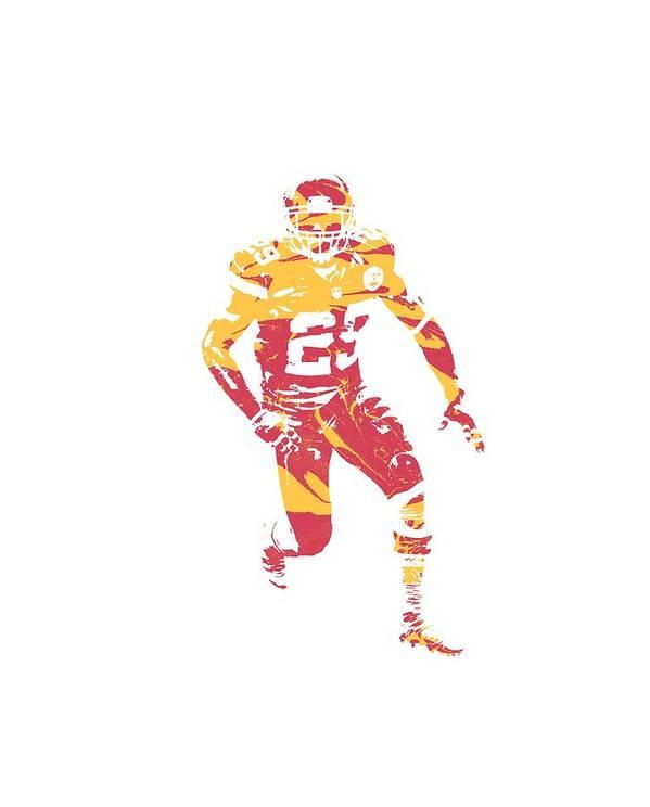 Eric Berry Chiefs Poster featuring the mixed media Eric Berry Kansas City Chiefs Apparel T Shirt Pixel Art 1 by Joe Hamilton